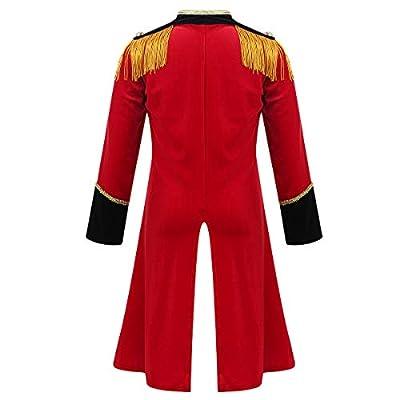 MSemis Toddler Girls Boys Ringmaster Circus Costume Sequins Gentleman Texudo Tailcoat for Halloween Show: Clothing