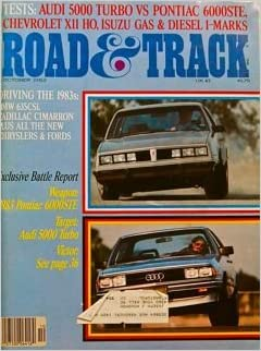 Road & Track 10/82 Pontiac 6000STE Audi 5000 Turbo Chevy Citation X11 Isuzu Imark BMW 635i Ferrari 330LM Chinetti: Road & Track: Amazon.com: Books