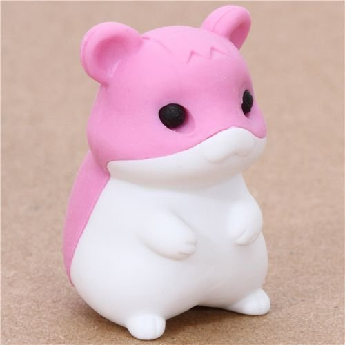 Iwako Cute Pink Hamster Eraser From Japan By (Iwako Erasers For Kids Hamster)