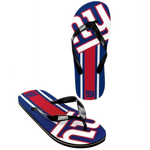 NY Giants official NFL Unisex Flip Flop Beach Shoes Sandals slippers size small by forever