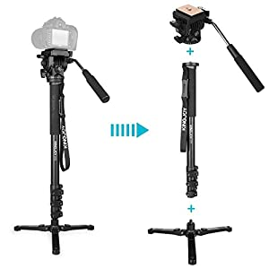 Kamisafe Camera Video Photo Monopod Stand for Canon Nikon Sony DSLR Camcorder Shooting Filming