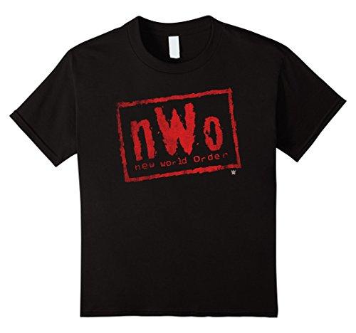 Kids nWo New World Order WWE Wrestling Logo Graphic T-Shirt 8 Black by WWE