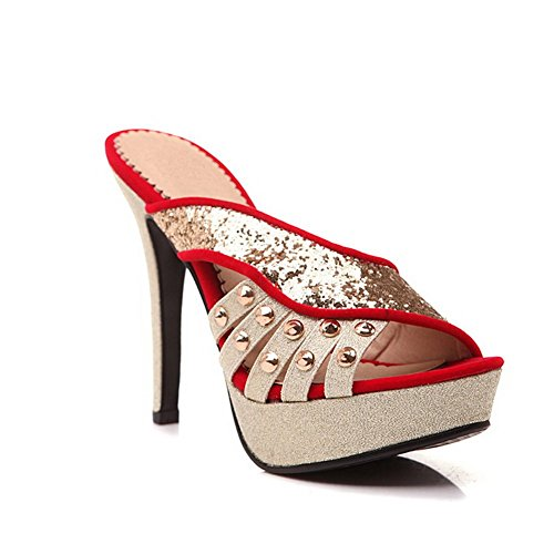 Farbe Weiches Hausschuhe Nieten Sortierte Rot Material BalaMasa Womens YqFInE