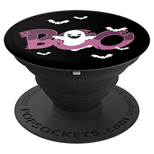 Happy and Scary Halloween Ghost Boo Mobile Phone Gift Idea - PopSockets Grip and Stand for Phones and -