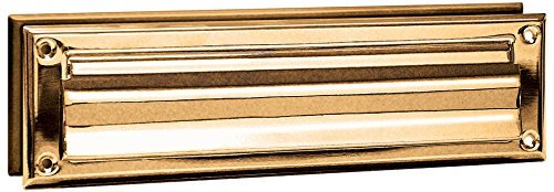 Salsbury Industries 4045B Mail Slot, Standard/Magazine Size, Brass Finish by Salsbury Industries - Magazine Mail Slot