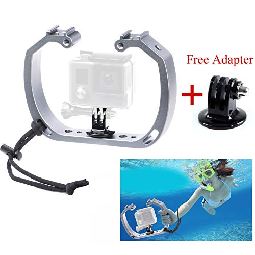 Sevenoak Aluminum Alloy Micro Film Making kit Video Cage Diving Rig Stabilizer SK-GHA6 & GoPro Mount Adapter for Action Cameras GoPro Hero3 3+ 4 5 6 Action Cameras for Underwater Video & Photography ()