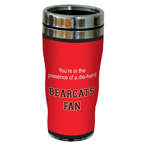 Tree-Free Greetings sg24669 Bearcats College Basketball Sip 'N Go Stainless Steel Lined Travel Tumbler, 16 Ounce ()