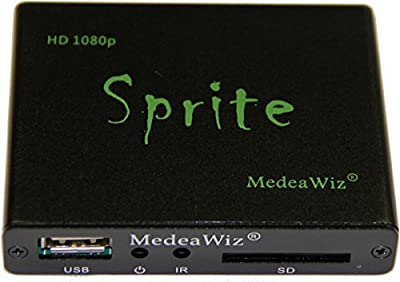 MedeaWiz DV-S1 Sprite Seamless Looping Media Player with Trigger and Serial Control, commercial grade, metal enclosure