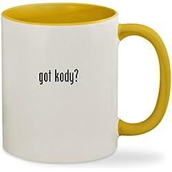 got kody? - 11oz Colored Inside & Handle Sturdy Ceramic Coffee Cup Mug, Yellow