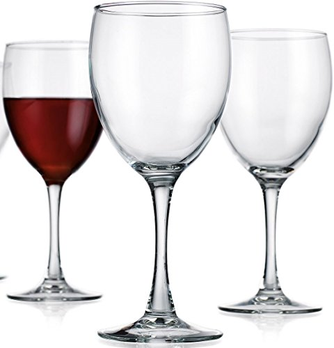 Circleware Vine Wine Glasses, Set of 4, 11 oz., Clear (Vine Glass Milk)