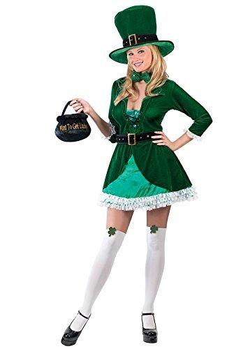 Damas LUSCIOUS Duende Irlandés Disfraz Traje Todas Las ...