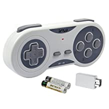 iMW Wireless Gaming Controller for NES | Super NES Classic Edition, Grey - Super NES;