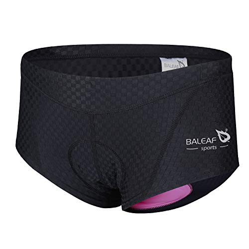 Baleaf Women's 3D Padded Coolmax Bicycle Cycling Underwear Shorts, Black, Medium