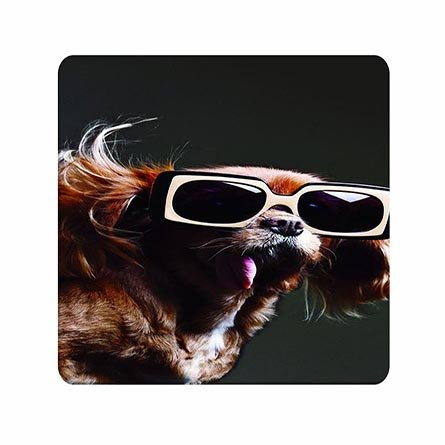 Art Game Partner Mousepads Doggy With Glass Custom Made For Family