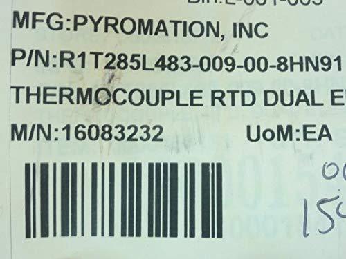 Pyromation R1T285L483-009-00-8HN91 RTD Element, 1/4'' Sheath OD