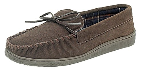 Mocassino Taglia Mens Gents Suede 6 Real Marrone 12 Uk gwaqtBx
