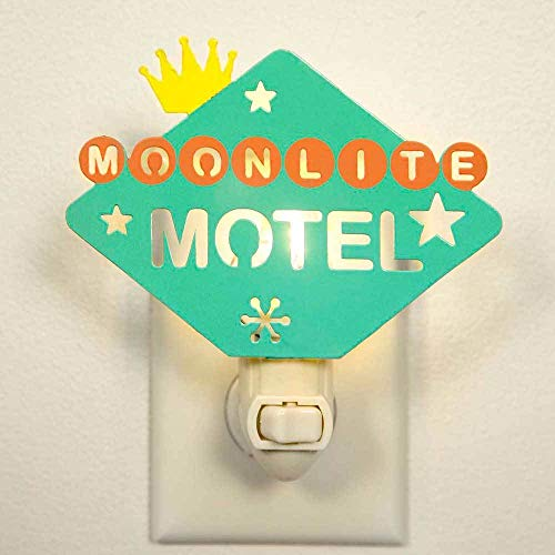 Colonial Tin Works CTW 860193 Retro Vintage Style Decorative Night Light Wall Light Plug In, Moonlite Motel Nostalgic Retro Home Decor for Bathroom Bedroom Hallway Stairs, Green Orange and White]()