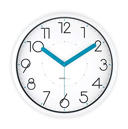 Der Bedroom Silent Wall Clock, Study Living Room Office Hotel Stationery Shop Toy Store Kindergarten Wall Clock Metal Wall Clock (Color : White, Size : 30.530.5CM)