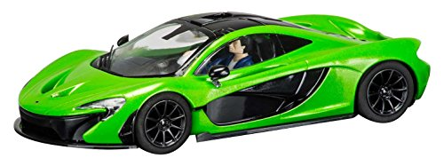 Scalextric C3756 McLaren P1 Lime Green Slot Car (1:32 Scale)