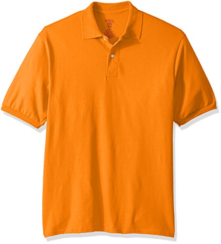 Jerzees Men's Spot Shield Short Sleeve Polo Sport Shirt, Safety Orange, X-Large (Best Selling Sports Jerseys)