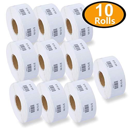 10 Rolls/7500 Labels Dymo 30332 Compatible Multipurpose Square Labels 1 x 1