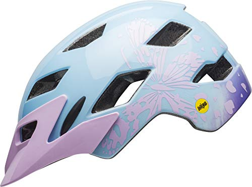 Bell Sidetrack MIPS Youth Bike Helmet (Gloss Lilac Flutter (2019), One Size)