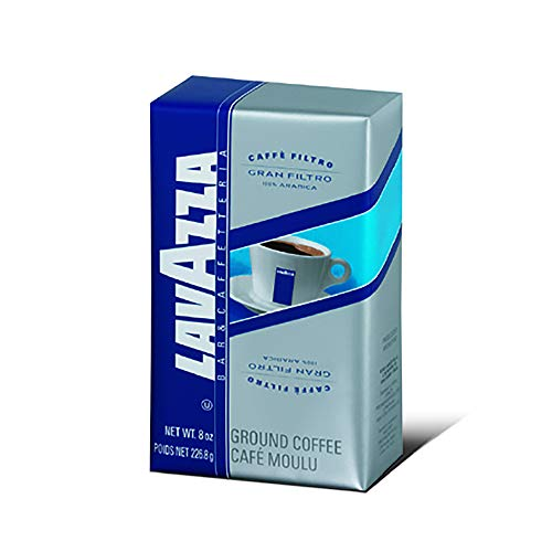 Lavazza Gran Filtro Ground Coffee Blend, Medium Roast, 8-Ounce Bricks (Pack of 5)