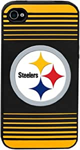 Forever Collectibles Pittsburgh Steelers Team Logo Silicone Apple iPhone 4 & 4S Case