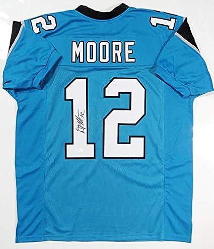 big sale 9cdb7 e8aba Autographed D.J. Moore Jersey - DJ Blue Pro Style Witnessed ...