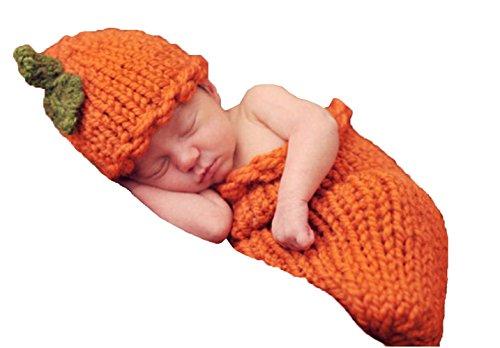 Rainbowlight Baby Newborn Halloween Pumpkins Knitted Crochet Outfits Photo Prop (Infant Halloween Outfits)