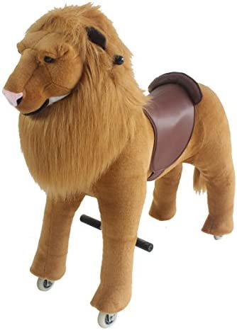 Mechanical Ride on Lion Simulated Horse Riding on toy ride-on Ponyサイクルwithoutバッテリーまたは電源:より快適Riding with Gallopモーションキッズ5 – 12歳