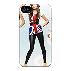 Iphone 4/4s Case Cover - Slim Fit Tpu Protector Shock Absorbent Case (miley Cyrus 43)