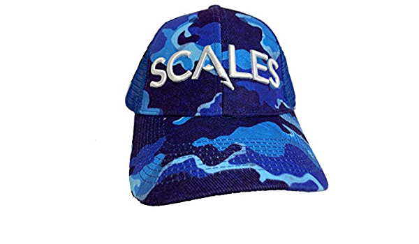 SCALES Iconic Trucker Hat Free Ship Blue Camo