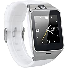 Excelvan NFC Bluetooth Unlocked Smart Watch with SIM Slot, White