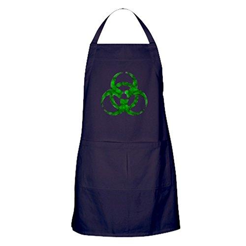 Green Biohazard Kitchen Apron with Pockets, Grilling Apron, Baking Apron ()
