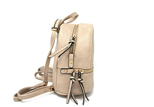 Backpack Bag Women or Styles Beige Casual Fashion AJ113 Mini Girls Leather Various for wIIxgY
