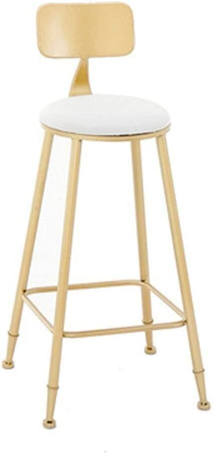 Ljbxdcz Nj Bar Stool Bar Counter Bar Height Bar Solid Metal Frame Bar With Backrest For Kitchen High Stool 3 16 Color Gold2 Size Free Size Amazon Co Uk Kitchen Home
