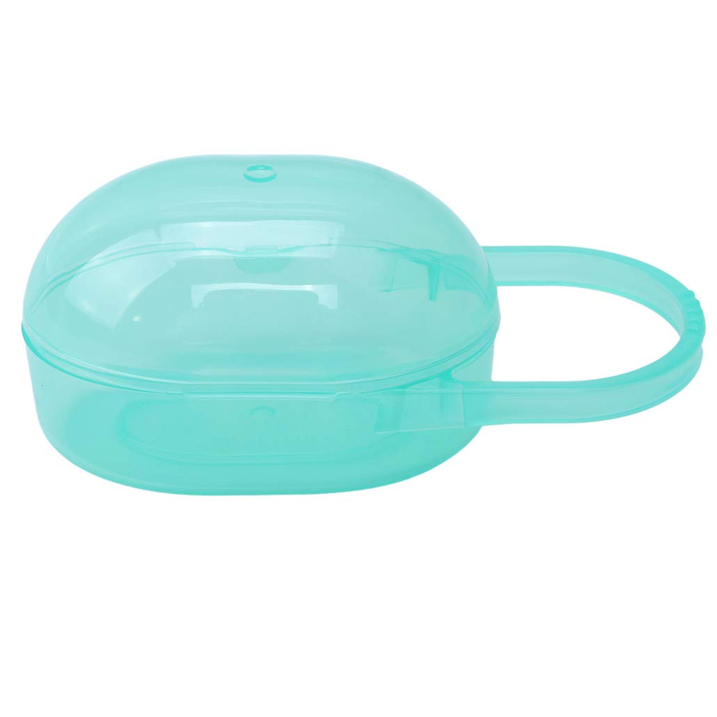 HAOWANG Portable Pacifier Cases Baby Infant Kids Nipple Case Cradle Storage Box Travel Carring Green