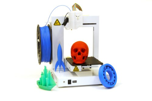 UP-Plus-2-Fully-Assembled-3D-Printer-53-x-55-x-55-Maximum-Build-Dimensions-015-mm-Maximum-Resolution-175-mm-ABS-PLA-White