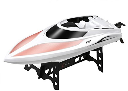 Yeezee Official Store- 2.4GHz,15 MPH High Speed Remote Control Boat,Working in Water RC Racing Boat with Two Hatches