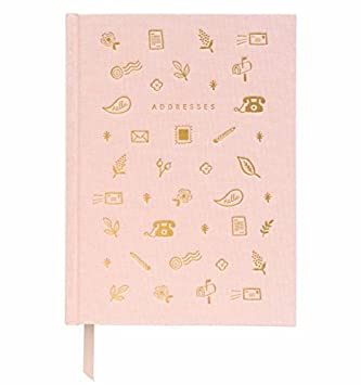 Amazon.com : Blush Address Book with Book Cloth Cover by ...