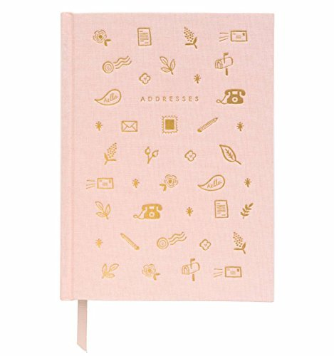 Blush Address Book with Book Cloth Cover by Rifle Paper ()