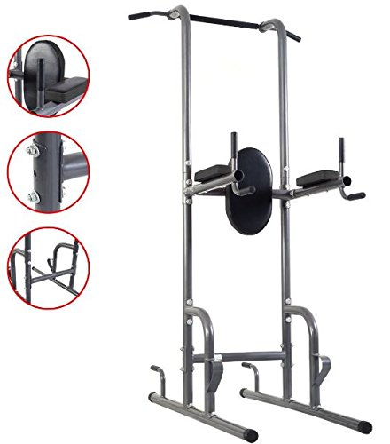 K&A company Up Dip Station Chin Tower Rack Pull Stand Weight Raise Home Bar Workout Gym Heavy Duty by K&A company