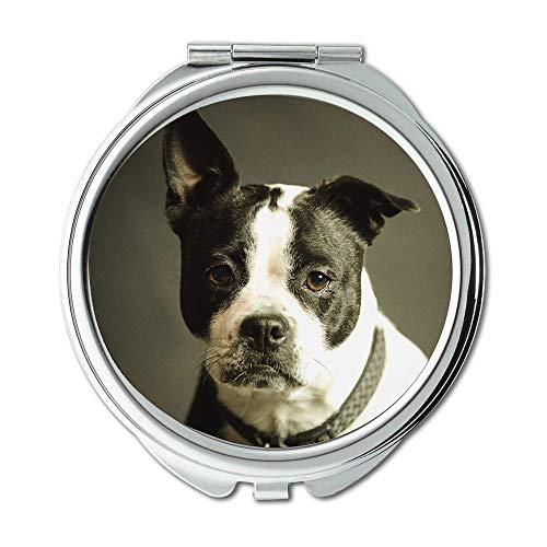 Mirror,Makeup Mirror,Animal Breed Canine Dog Look Mammal Pet Portrait,Pocket Mirror,Portable Mirror