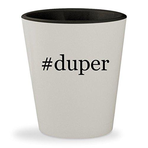 #duper - Hashtag White Outer & Black Inner Ceramic 1.5oz Shot - Bag Karen Walker