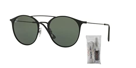 731cdb7dabe64 Amazon.com  Ray-Ban RB3546 186 49M Black Top Matte Black Green Sunglasses  For Men For Women  Clothing