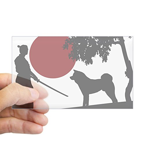 CafePress - Akita Samurai Sticker (Rectangle) - Rectangle Bumper Sticker Car (Akita Sticker)