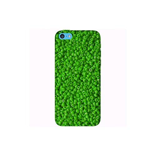 Coque Apple Iphone 5c - Perles vertes