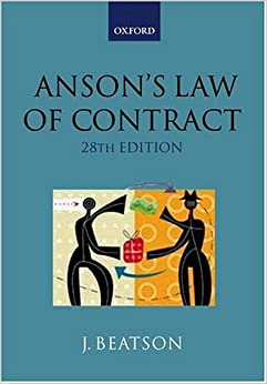 Book Anson's Law of Contract