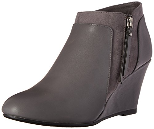 Laundry by Suede Charcoal Bootie Women's CL Chinese Vania Wedge qEdWpwx